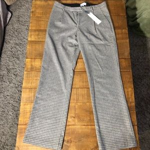 Adam Wool Houndstooth Trousers